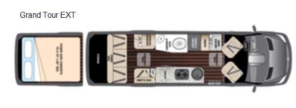 Floorplan - 2016 Airstream RV Interstate Grand Tour EXT Grand Tour EXT