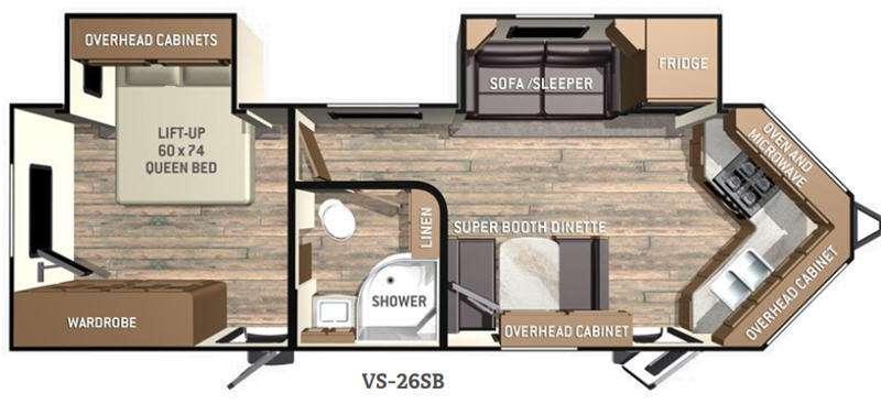 Floorplan - 2016 Cruiser ViewFinder Signature VS-26SB
