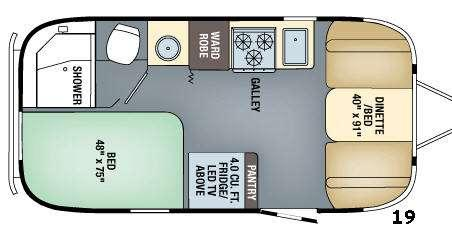 Floorplan - 2016 Airstream RV Flying Cloud 19