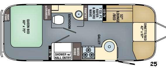 Floorplan - 2016 Airstream RV Flying Cloud 25