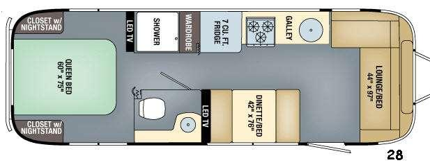 Floorplan - 2016 Airstream RV Flying Cloud 28