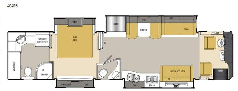 Floorplan - 2016 Coachmen RV Sportscoach Cross Country RD 404RB