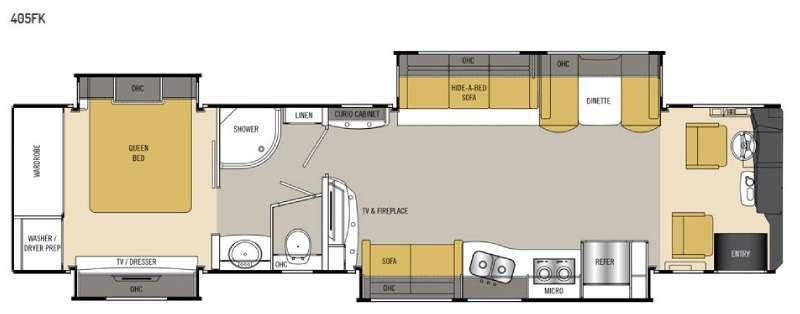 Floorplan - 2016 Coachmen RV Sportscoach Cross Country RD 405FK