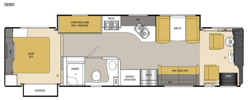 Floorplan - 2016 Coachmen RV Sportscoach Cross Country SRS 361BH