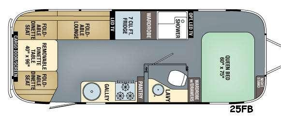 Floorplan - 2016 Airstream RV Eddie Bauer 25FB