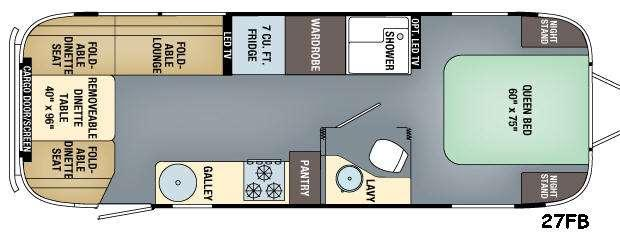 Floorplan - 2016 Airstream RV Eddie Bauer 27FB