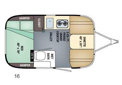 Floorplan - 2016 Airstream RV Sport 16