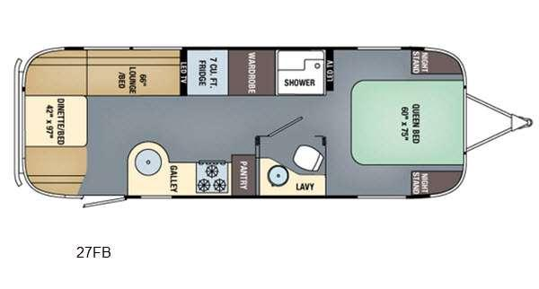 Floorplan - 2016 Airstream RV International Serenity 27FB
