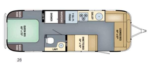 Floorplan - 2016 Airstream RV International Serenity 28