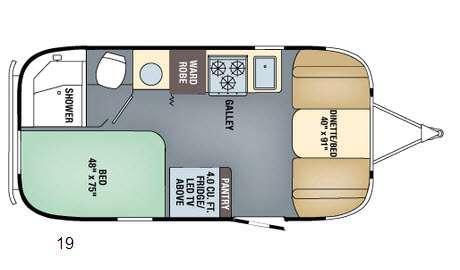 Floorplan - 2016 Airstream RV International Signature 19