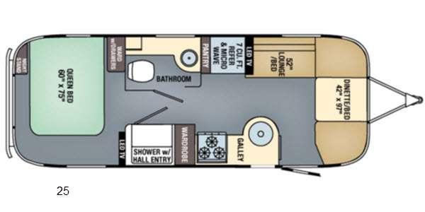 Floorplan - 2016 Airstream RV International Signature 25