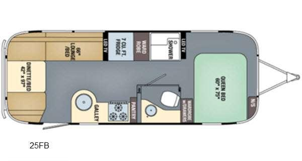 Floorplan - 2016 Airstream RV International Signature 25FB