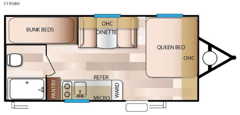 Floorplan - 2016 Forest River RV Salem Cruise Lite FS 195BH