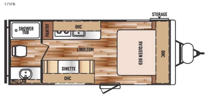 Floorplan - 2016 Forest River RV Salem Cruise Lite FS 175FB