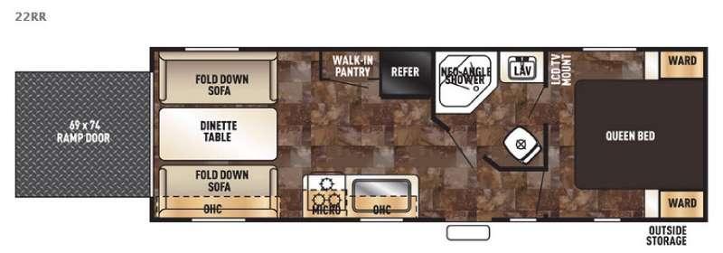 Floorplan - 2016 Forest River RV Cherokee Grey Wolf 22RR