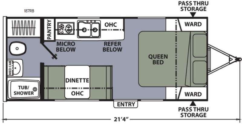 Floorplan - 2016 Coachmen RV Apex Nano 187RB