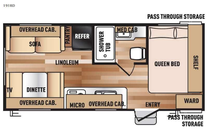 Floorplan - 2016 Forest River RV Salem Cruise Lite 191RD