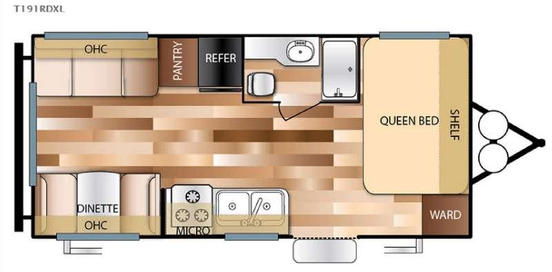Floorplan - 2016 Forest River RV Salem Cruise Lite 191RDXL