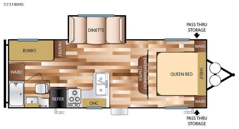 Floorplan - 2016 Forest River RV Salem Cruise Lite 231BHXL