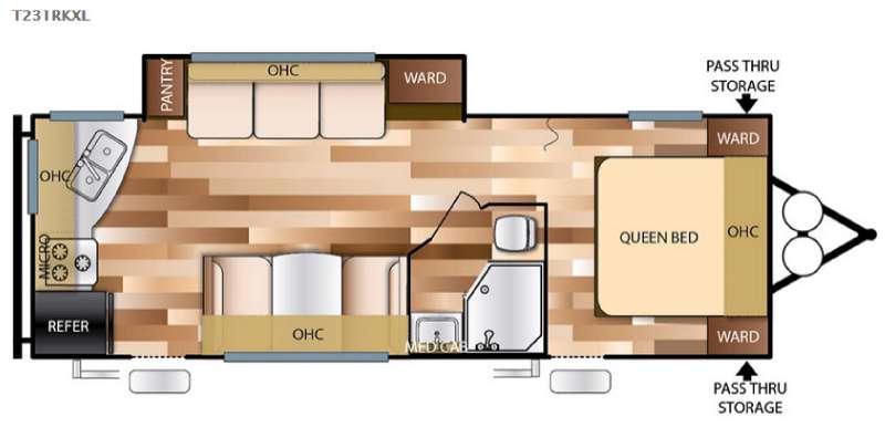 Floorplan - 2016 Forest River RV Salem Cruise Lite 231RKXL