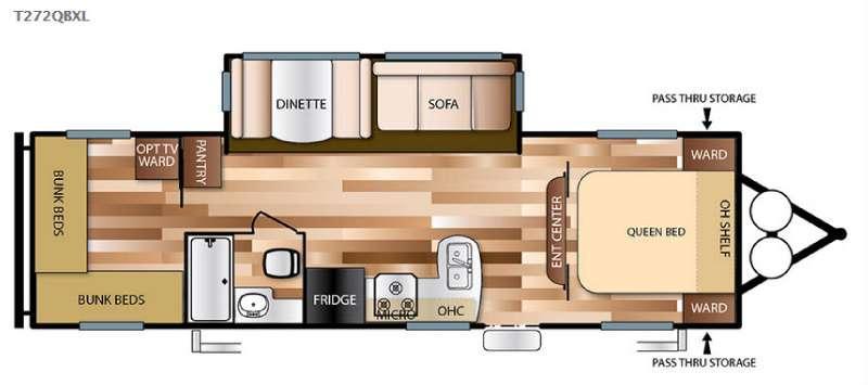 Floorplan - 2016 Forest River RV Salem Cruise Lite 272QBXL