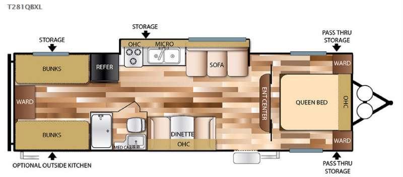 Floorplan - 2016 Forest River RV Salem Cruise Lite 281QBXL