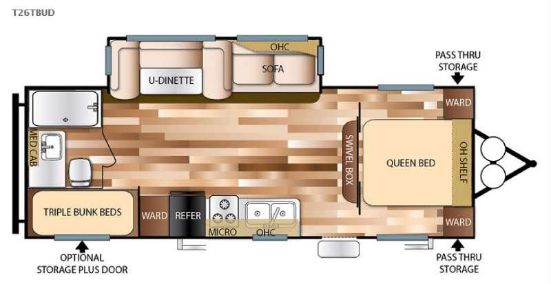 Floorplan - 2016 Forest River RV Salem 26TBUD