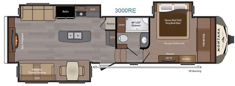 Montana 3000RE Floorplan Image
