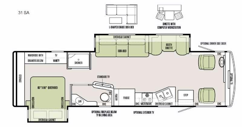 Floorplan - 2016 Tiffin Motorhomes Allegro 31 SA