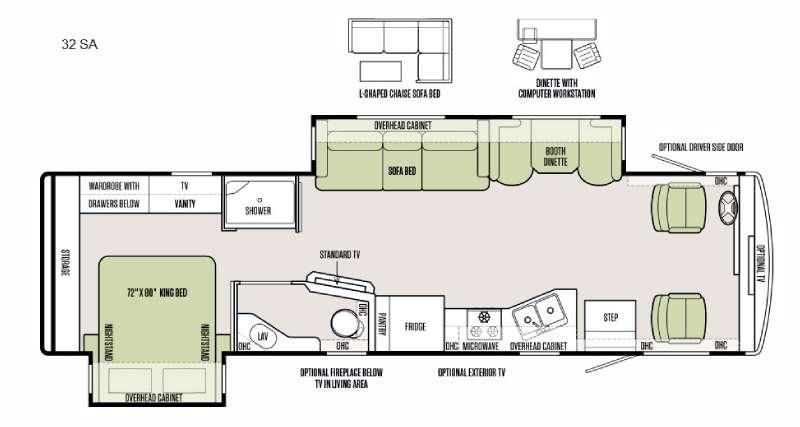 Floorplan - 2016 Tiffin Motorhomes Allegro 32 SA