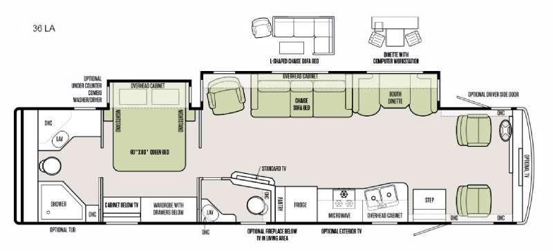 Floorplan - 2016 Tiffin Motorhomes Allegro 36 LA