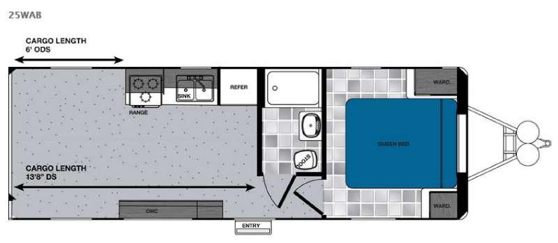 Work and Play 25WAB Floorplan Image