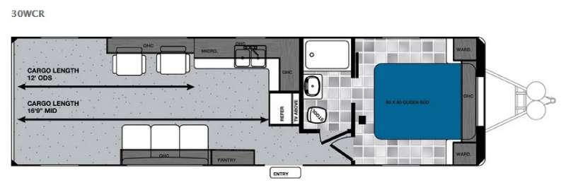 Work and Play 30WCR Floorplan Image