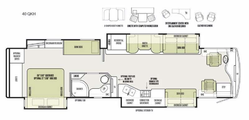 Phaeton 40 QKH Floorplan Image
