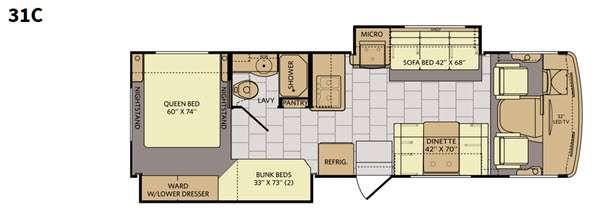 Floorplan - 2016 Fleetwood RV Terra SE 31C