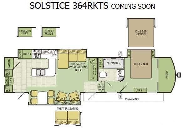 Floorplan - 2016 Starcraft Solstice 364RKTS