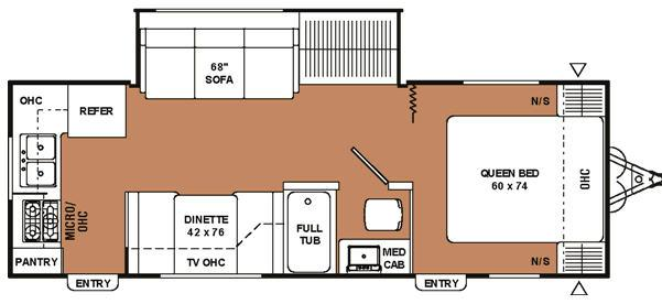 Floorplan - 2007 Coachmen RV Spirit of America 25 RKS