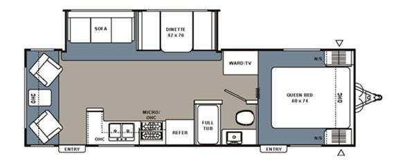Floorplan - 2007 Coachmen RV Spirit of America 28 RLS
