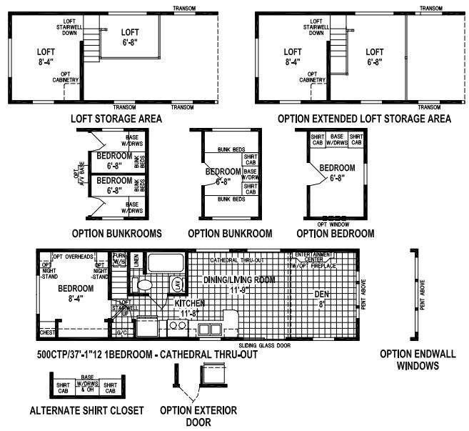 Floorplan - 2016 Skyline Stone Harbor 500CTP