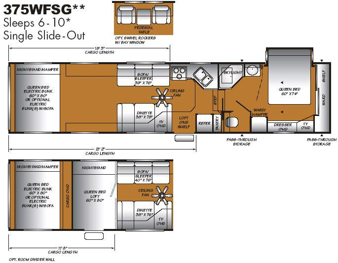 Floorplan - 2007 Fleetwood RV GearBox 375WFSG