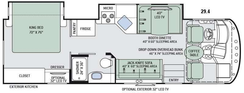 Floorplan - 2016 Thor Motor Coach ACE 29.4