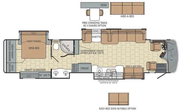 Floorplan - 2016 Entegra Coach Anthem 42DLQ