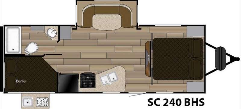 Floorplan - 2016 Cruiser Shadow S-240BHS
