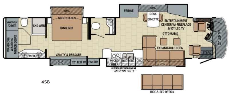 Floorplan - 2016 Entegra Coach Cornerstone 45B