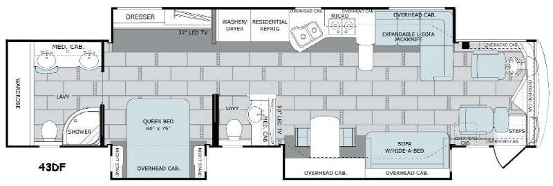 Scepter 43DF Floorplan Image