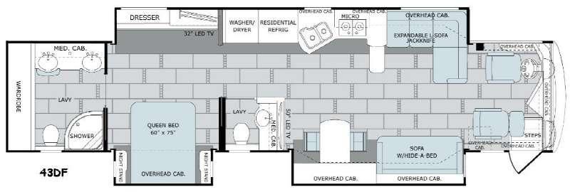 Scepter 43DF Floorplan Image