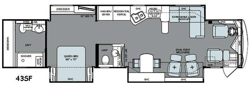 Scepter 43SF Floorplan Image
