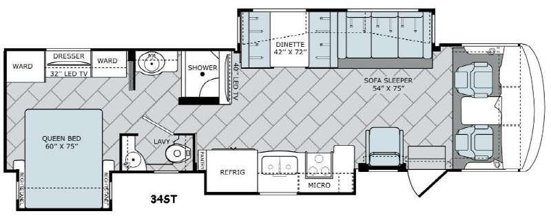 Vacationer 34ST Floorplan Image