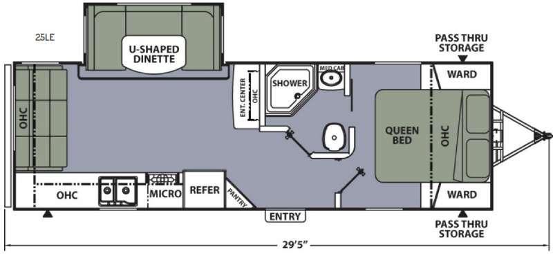 Floorplan - 2016 Coachmen RV Apex Ultra-Lite 25LE