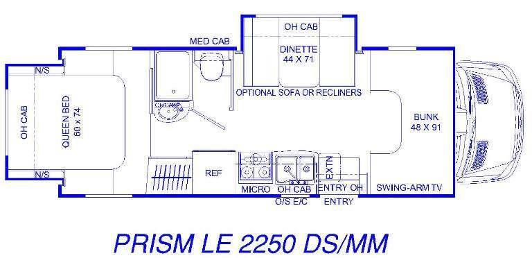 Floorplan - 2016 Coachmen RV Prism 2250DS LE